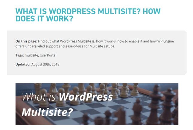 wpengine wordpress multisite