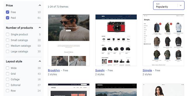 como crear una tienda online temas de shopify