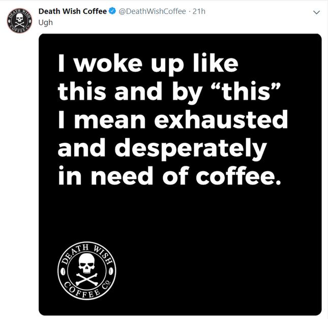 death wish coffee brand twitter