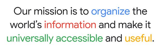 google brand mission