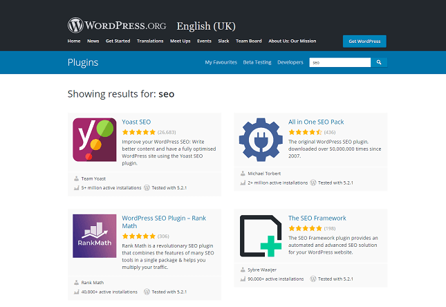 Complementos SEO de WordPress