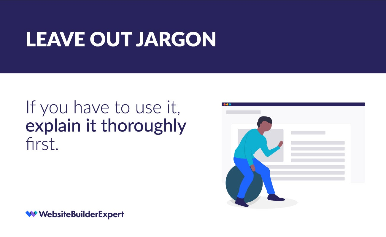 writing for the web tip leave out jargon