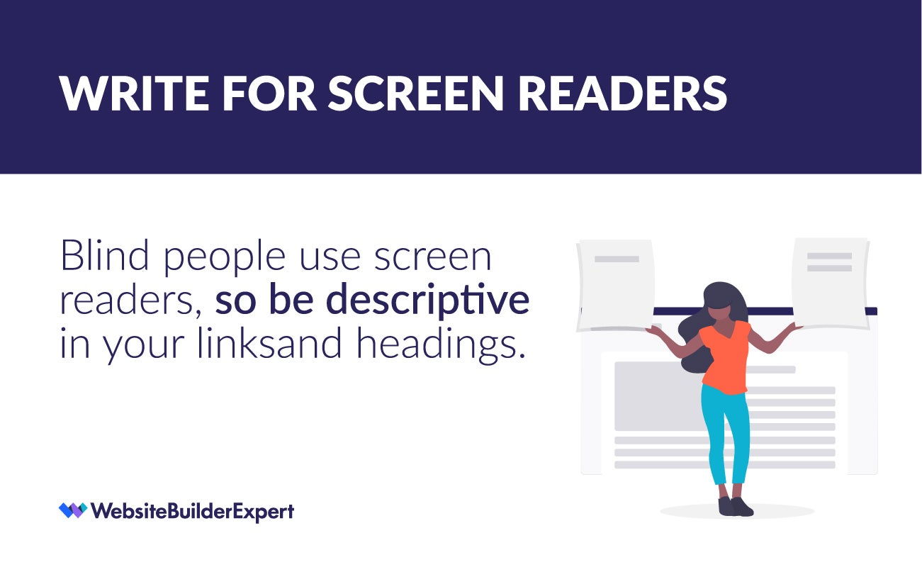 writing for the web tip write for screen readers