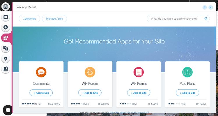 como usar wix apps