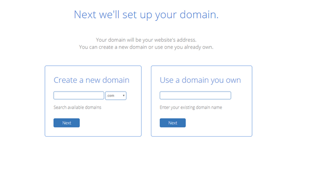 bluehost setup domain registration