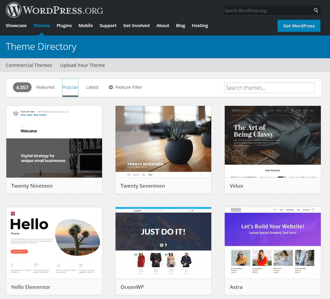 wordpress blog theme directory