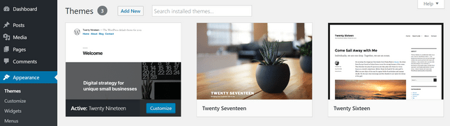 wordpress blog theme installation