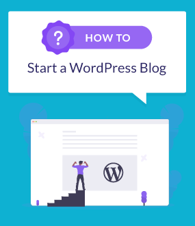 how to start a wordpress blog featured image