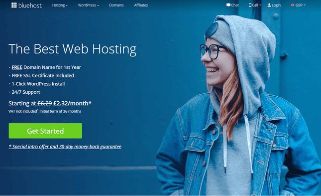 bluehost hosting multilingual wordpress site