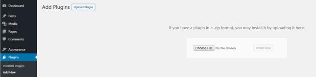 install new plugin wordpress