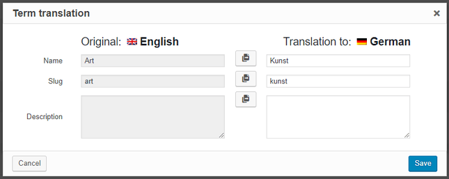 wpml category translation example