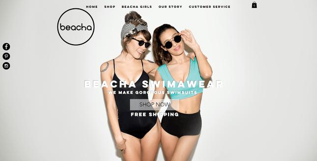 beacha swimwear wix