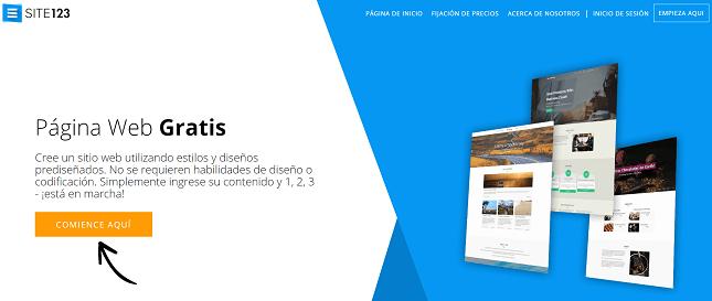 alternativas a wordpress site123