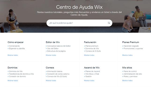 wix tienda online centro de ayuda