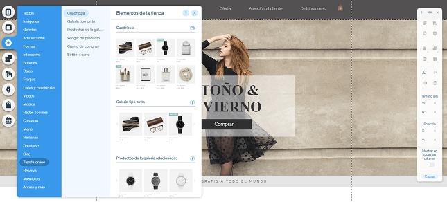 wix tienda online personalizacion del diseno