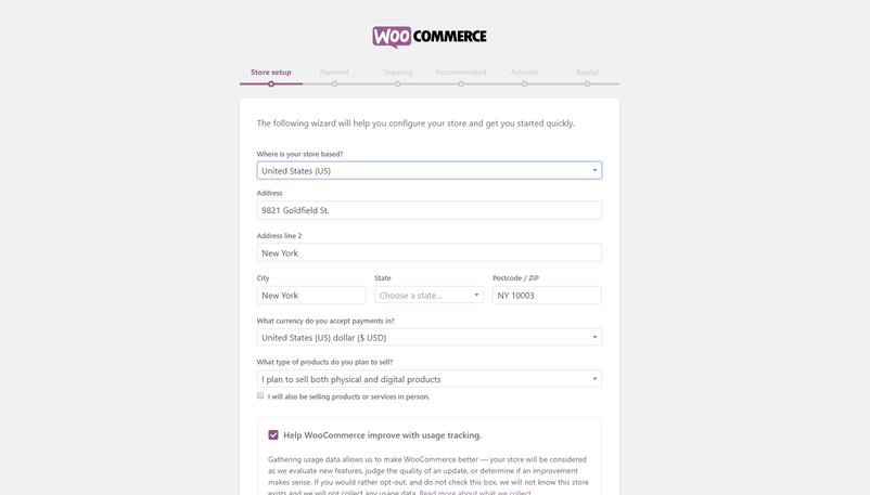 Adding business details to WooCommerce