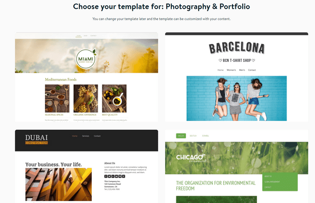 jimdo photography templates