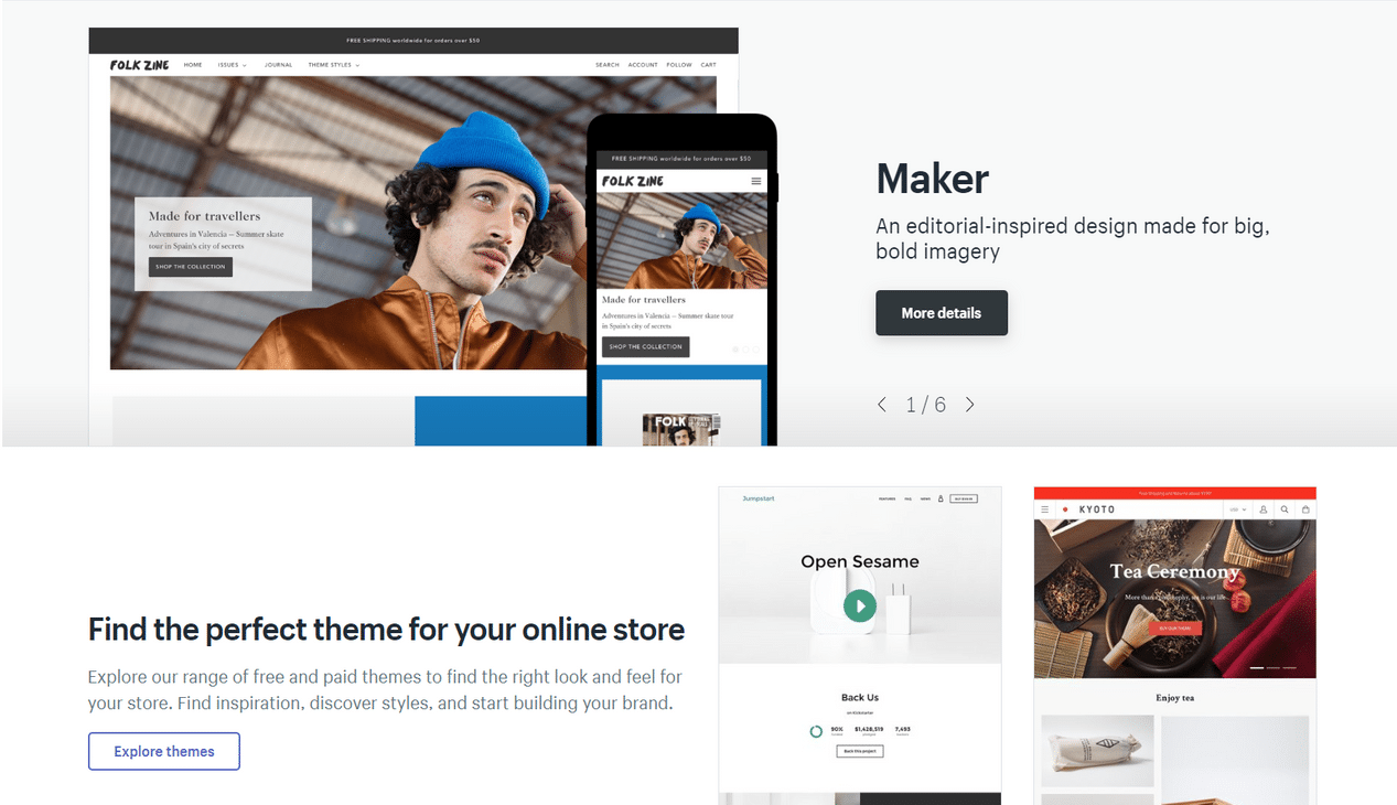 shopify review themes