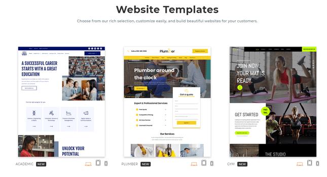 duda portfolio builder templates
