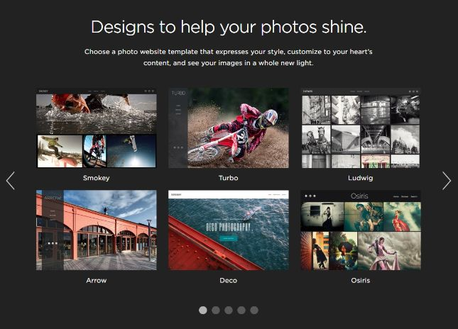 Smugmug photography templates