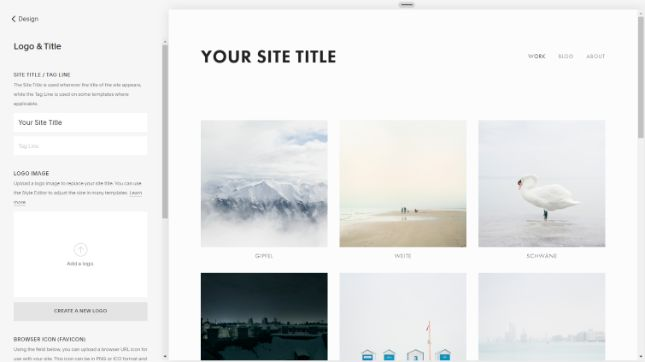 Squarespace template Avenue