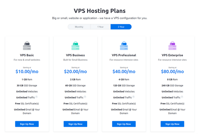 dreamhost vps 3 year plans