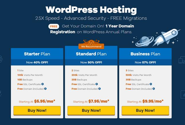 hostgator pricing wordpress hosting plans