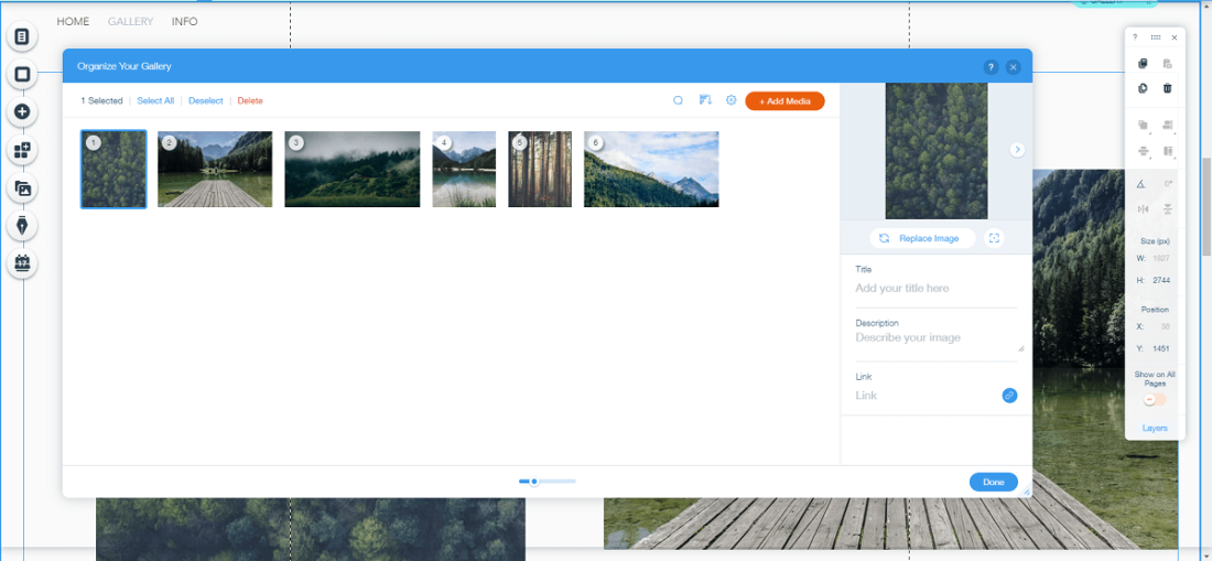 add content with wix