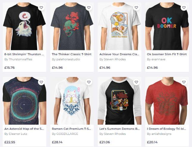 side hustles: sell tshirts online