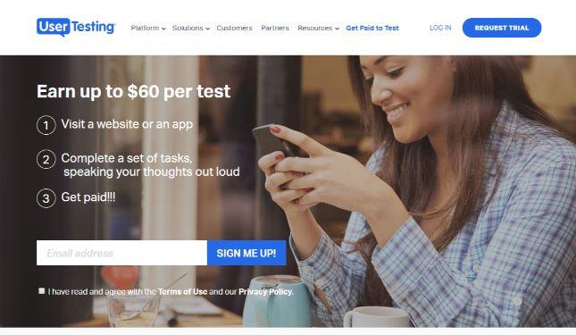 Side hustle: user testing