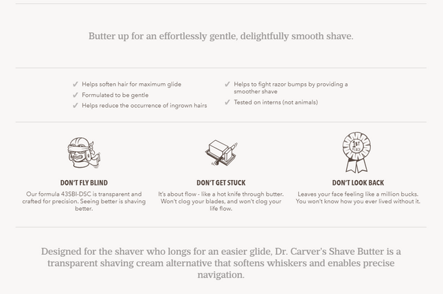 dollar shave club scannable product description