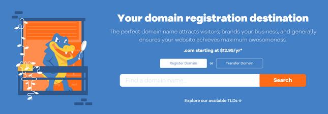 hostgator domain homepage