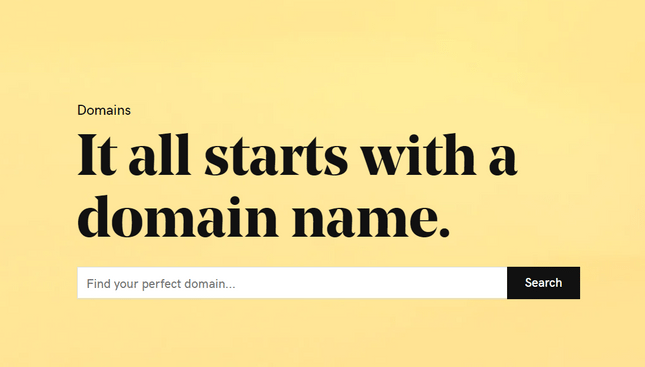 godaddy domain homepage