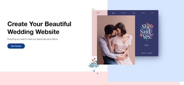 wix weddding website builder