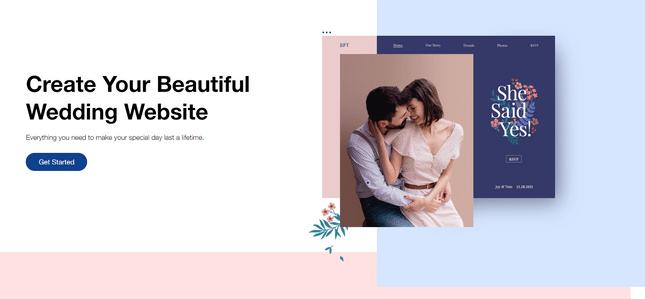 wix weddding website builder