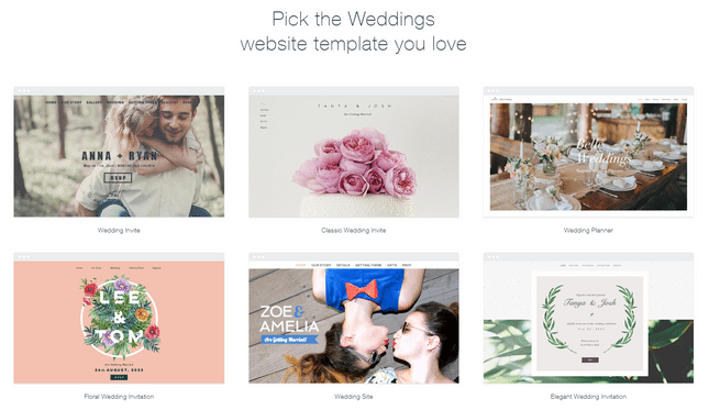wix wedding templates
