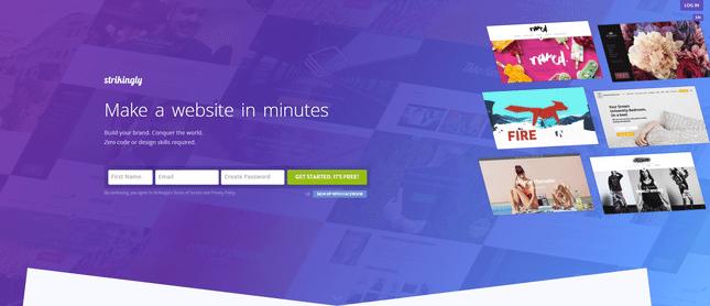 strikingly best value website builder
