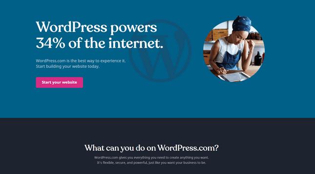wordpress.com best builder for blogging