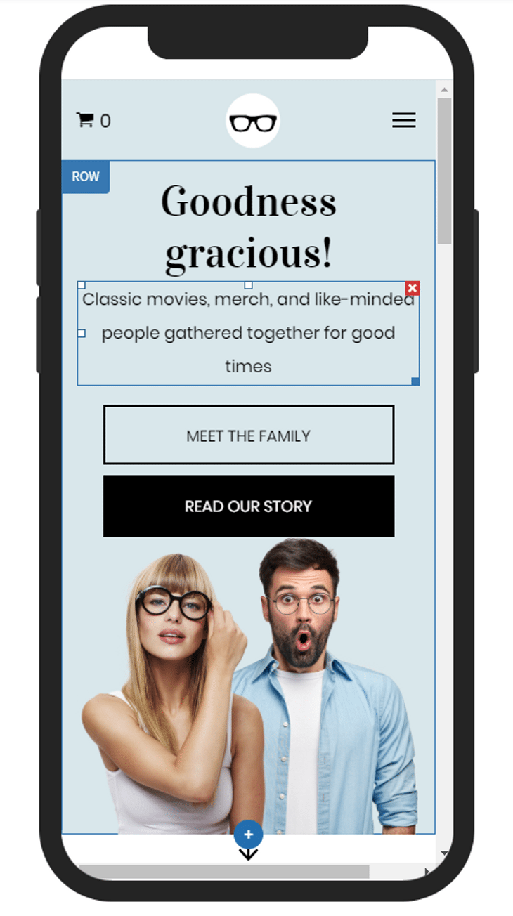 duda review mobile editor example
