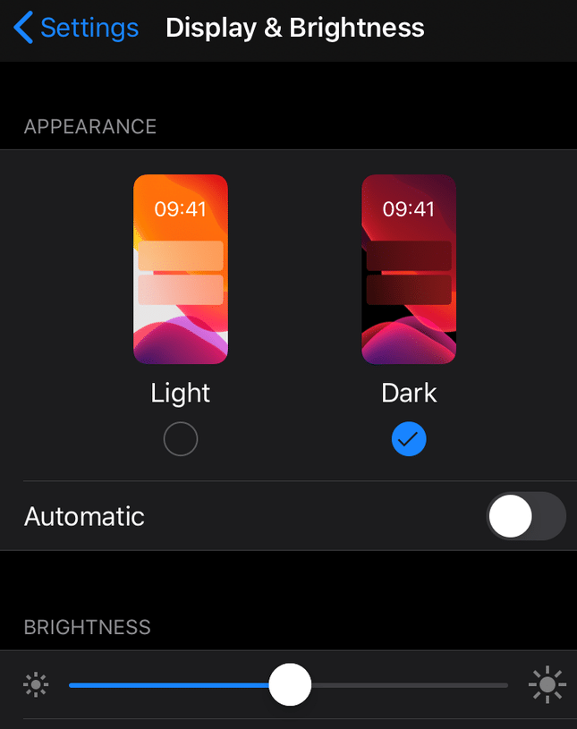 dark mode web design mobile
