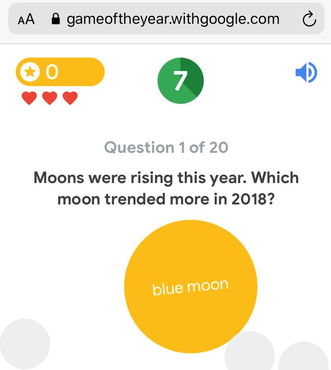 minimal mobile design trend google quiz
