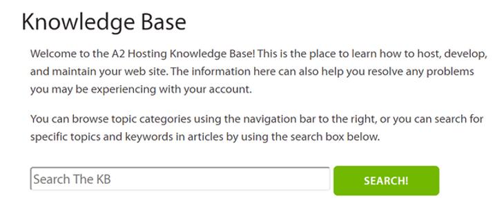a2 hosting knowledge base