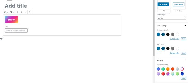 wordpress web design gutenberg button gradient
