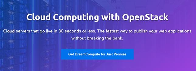 dreamcompute homepage