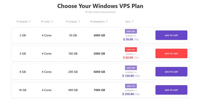 hostinger windows plans