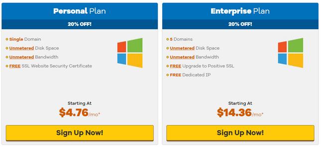 hostgator asp.net hosting pricing