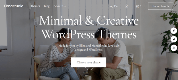 elma studio tech wordpress theme digital products