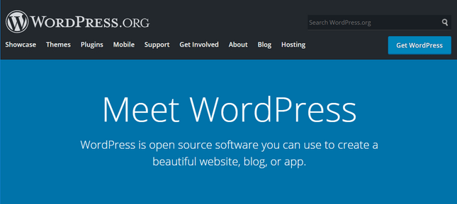 wordpress homepage view