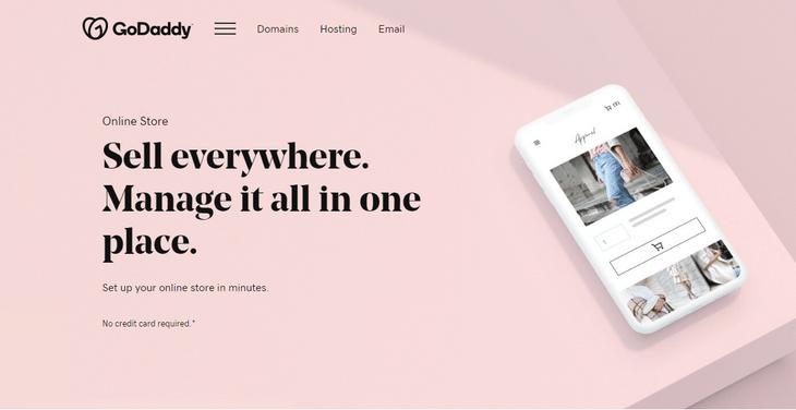 godaddy online store home