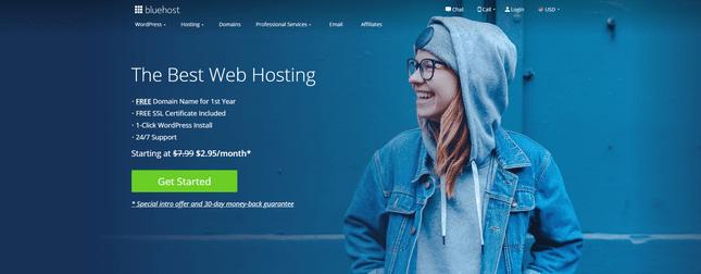 bluehost best wordpress blog host